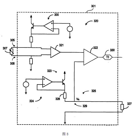 差分热敏电阻器电路